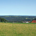 Purpen, Blick auf Tischneck und Schwäbische Alb