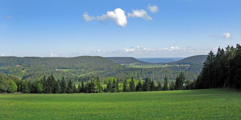 Reibeecke, Blick Richtung Sulzbach, Kinzigtal und Nordschwarzwald